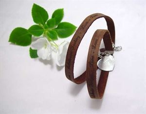 Picture of CELEBRATE TODAY BROWN LEATHER WRAP BRACELET