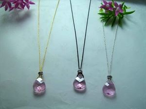 Picture of ROSE PINK CRYSTAL DROP NECKLACE
